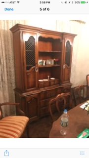 French Provincial Hutch.. Display Case.. China Cabinet... Kitchen Cabinet