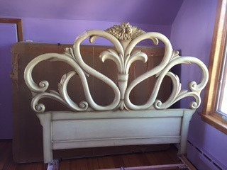 Full Headboard...  Really Ornate and Curvy !!!