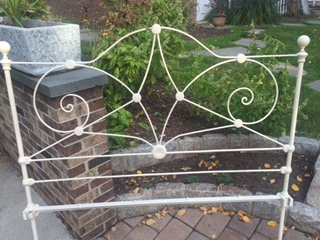 Vintage Full Wrought Iron Bed