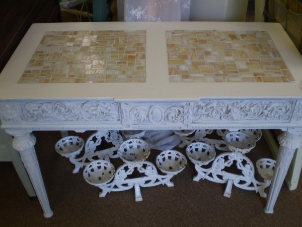 Glass Mosaic Top Table