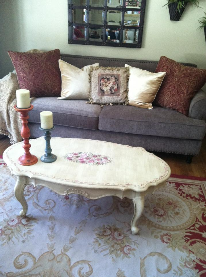 Hand Painted Coffee Table
