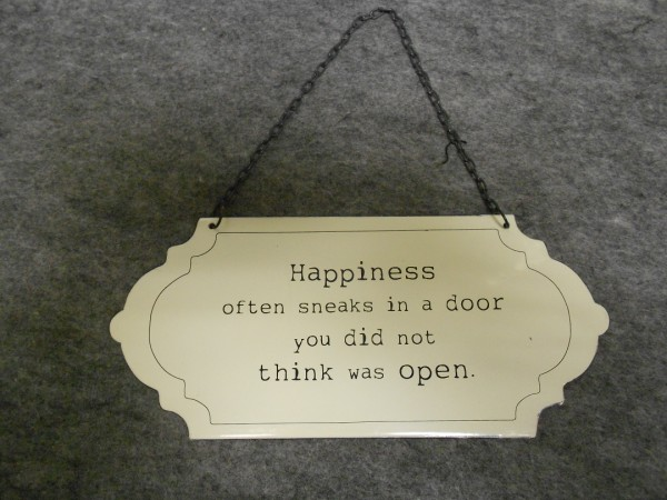 Happiness Often Sneaks In