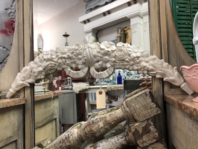 Carved Arch..  Flowers and Bow...  Italian