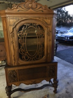 Jacobean China Cabinet with Beautiful Grate