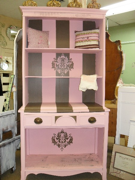 "Pink and Brown ""JUICY"" Stripe Book Case"