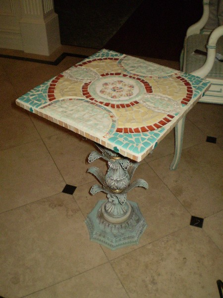 I'm Too Tiled Mounted as an End Table
