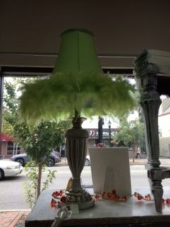 LIME GREEN!!!  Feather Lamp