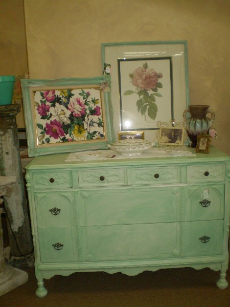 Color Washed Dresser .... Before
