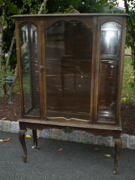 China Cabinet with Glass on 3 Sides /before