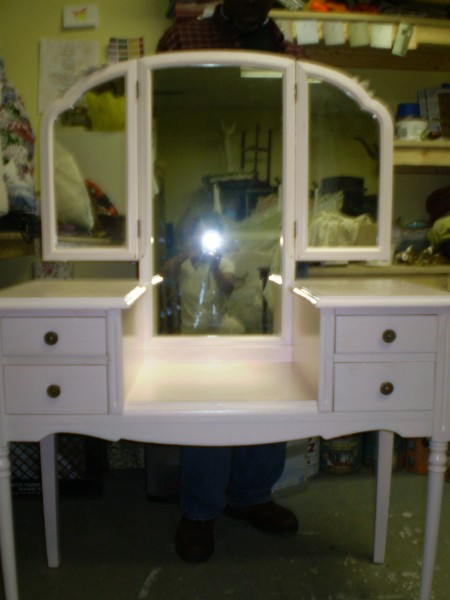 Vanity with Tri Fold Mirror...  After