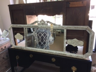 Long Narrow Mirror with Empty Sides