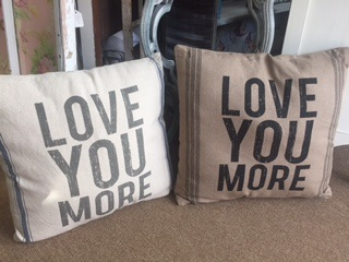 LOVE YOU MORE LARGE PILLOW