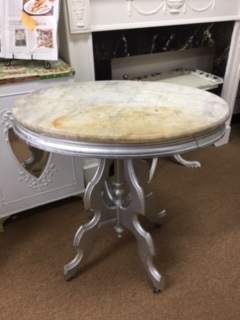 Oval Marble Top Antique Table
