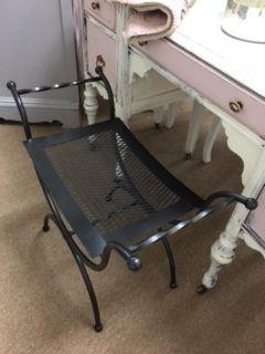 Metal Vainity Bench in Gunmetal