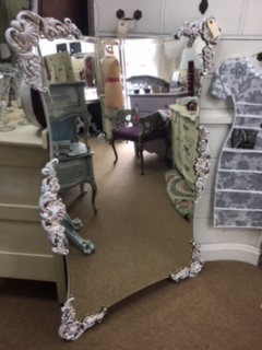 Beveled Mirror with Ornate Edges