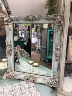 Mirror with Ornate Distressed Frame
