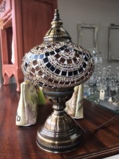 Mosaci Lamp in Topaz/Black