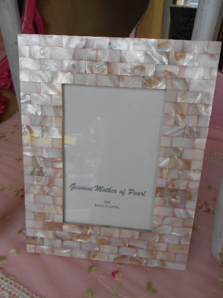 Pink Mother of Pearl Picture Frame