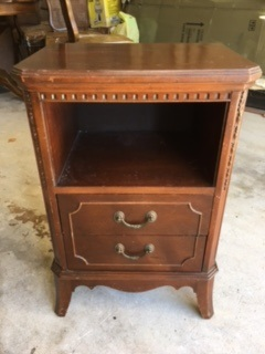 Night Stand with Open Cabinet and 2 Drawers