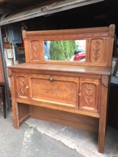 Oak Sideboard ...  Buffet...  Secretary Desk with Mirror