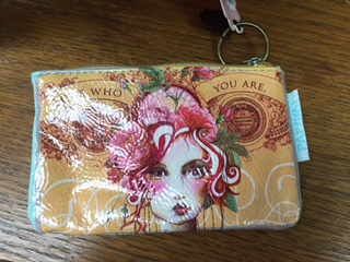 Oil Cloth Change Purse.. LOVE WHO YOU ARE