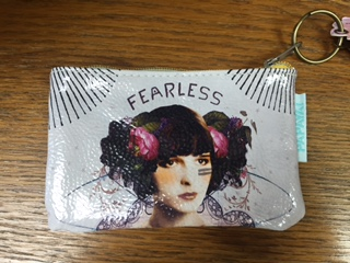 Oil Cloth Change Purse FEARLESS