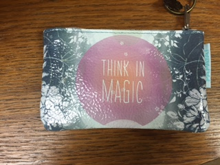 Oil Cloth Change Purse THINK IN MAGIC