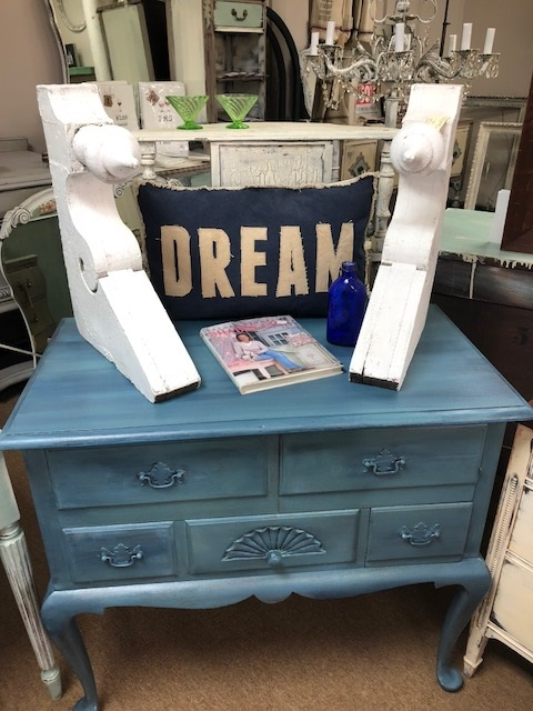 Blue Ombre Storage Chest on Legs