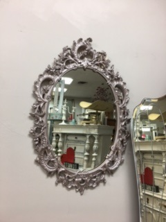 Ornate Mirror in Sesame