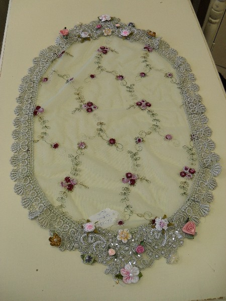 Embroidered Lace Oval