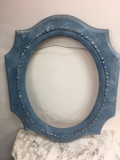 Oval Frame in Shades of Blue and Grey