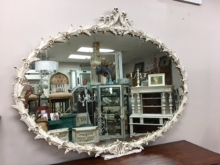 Large Oval Ornate Mirror