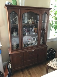 Small French Provinial China Cabinet...  Hutch.... Book Case...  Display Case