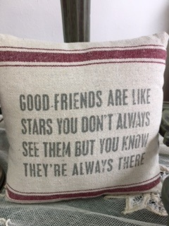 SMALL PILLOW... GOOD FRIENDS ARE LIKE STARS