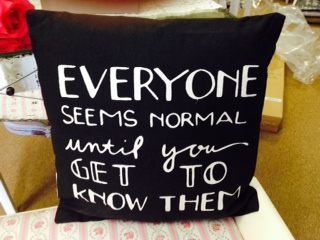 Pillow ...  Everyone Seems Normal