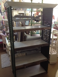 Shelf made from Vintage Shutters and Barn Siding