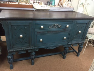 Refinished Top.. Painted Base Buffet..Sideboard...TV Console