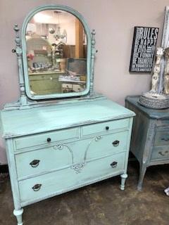 Depression Dresser with Mirror