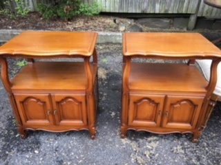 Set of French Provincial Night Stands  End Tables