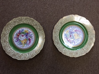 Set of Decorative Floral Plates