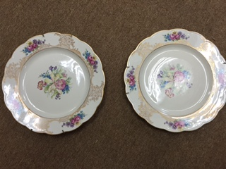 Set of Gold Decorative Plates