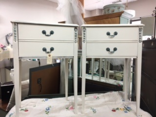 Set of Creamy White Night Stands