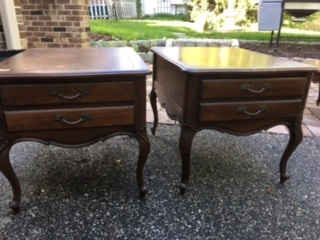 Set of French Provincial End Tables Night Stands