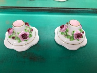 Set of Rose Candle Stick Holders