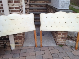 Set of Twin Upholstered Headboards