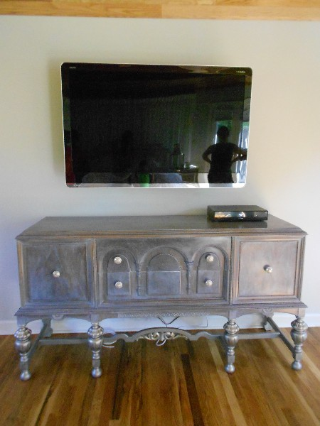 Sideboard ... Stripped...Stained Grey...  White Wash Finish