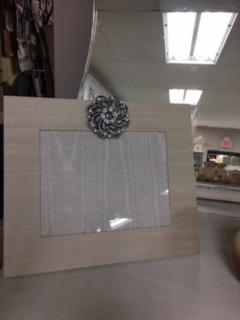 Hand Made Fabric Frame 8 x 10 Creme Silk