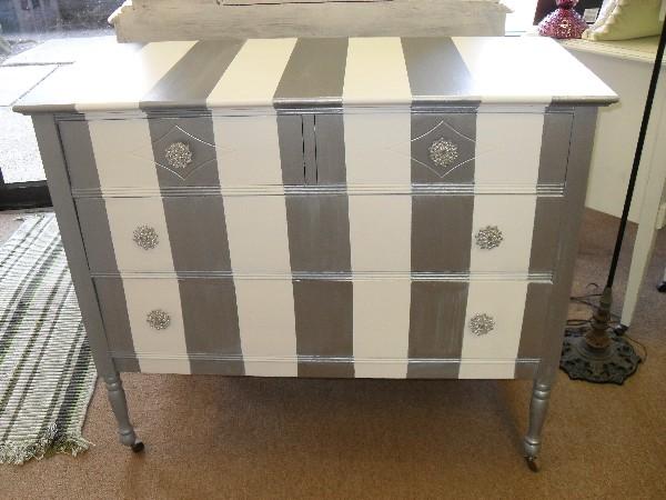 Silver Shimmer Stripe Dresser