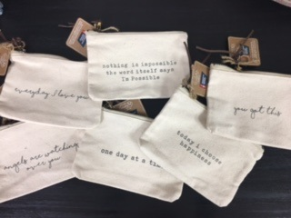 Small Canvas Bags with Inspirational Sayings