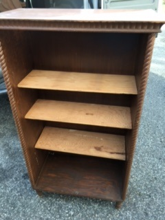 Small Book Case with Rope Molding Trim